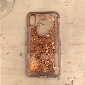 Glittery Rose Gold IPhone XSMax Case